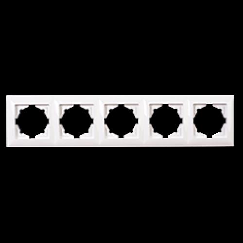 Рамка*5 белая Gunsan Radius (01379300-000146)
