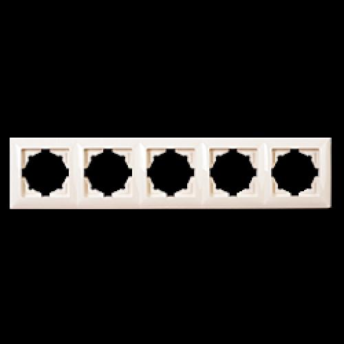 Рамка*5 кремовая Gunsan Radius (01371200-000146)
