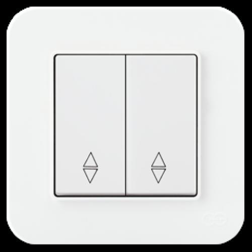Выключатель 2-кл проходной (без рамки) белый Gunsan Radius (01409300-150109)