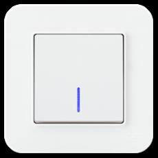 Выключатель 1-кл с индикацией (без рамки) белый