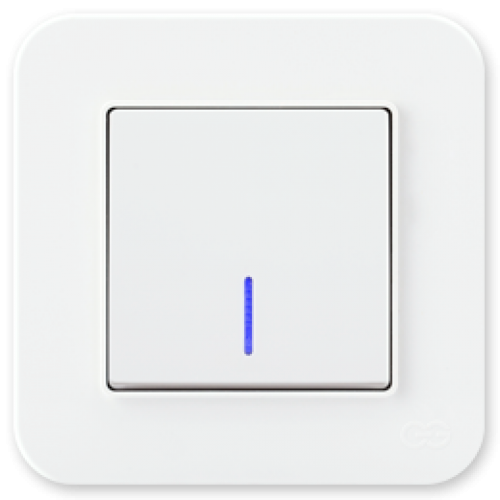 Выключатель 1-кл с индикацией (без рамки) белый Gunsan Radius (01409300-150102)