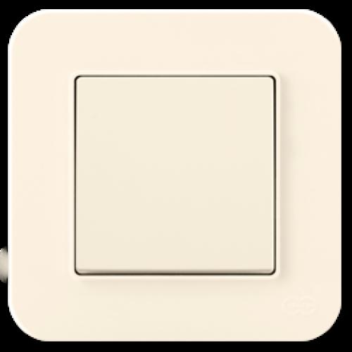 Выключатель 1-кл (без рамки) кремовый Gunsan Radius (01401200-150101)
