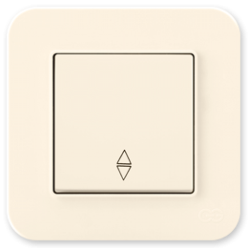 Выключатель 1-кл проходной (без рамки) кремовый Gunsan Radius (01401200-150107)