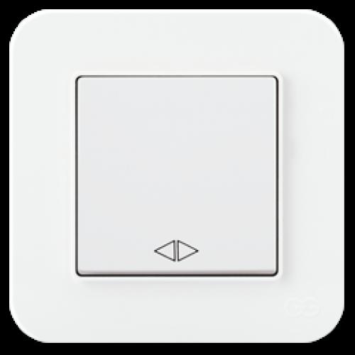 Выключатель 1-кл перекрестный (без рамки) белый Gunsan Radius (01409300-150135)