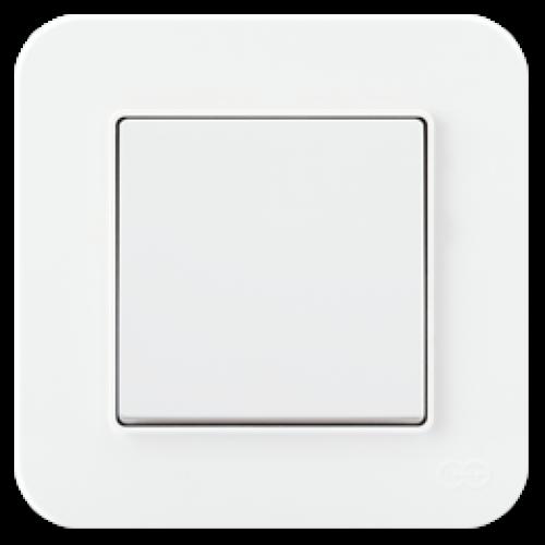 Выключатель 1-кл (без рамки) белый Gunsan Radius (01409300-150101)