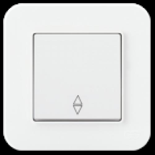 Выключатель 1-кл проходной (без рамки) белый Gunsan Radius (01409300-150107)