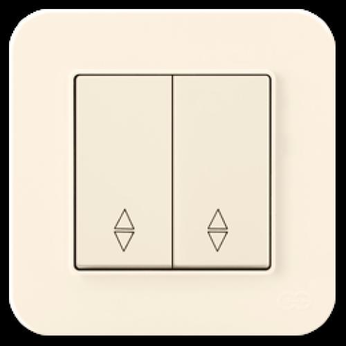 Выключатель 2-кл проходной (без рамки) кремовый Gunsan Radius (01401200-150109)