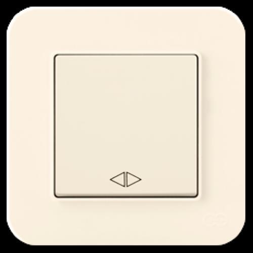 Выключатель 1-кл перекрестный (без рамки) кремовый Gunsan Radius (01401200-150135)