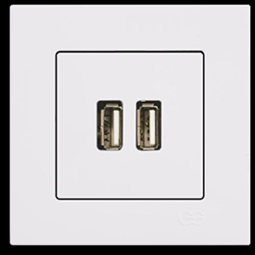 Розетка USB  белый Gunsan Eqona (01409300-157351)