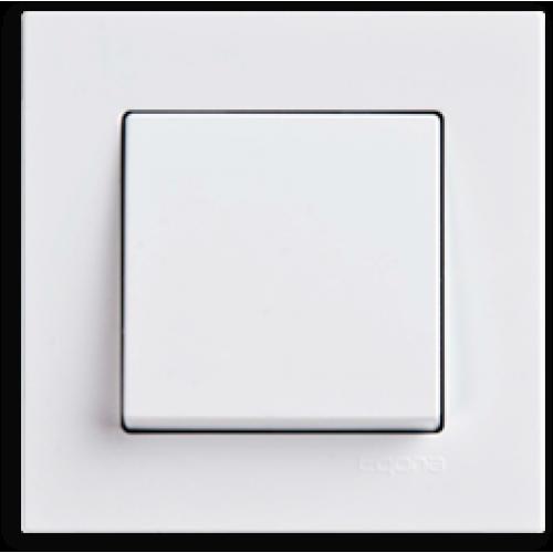 Выключатель 1-кл (без рамки) белый Gunsan Eqona (01409300-150101)