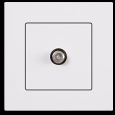 Розетка спутник (без рамки) белая