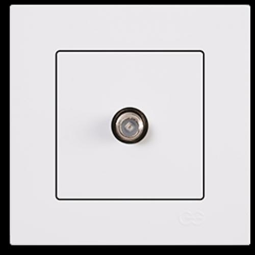 Розетка спутник (без рамки) белая Gunsan Eqona (01409300-159172)
