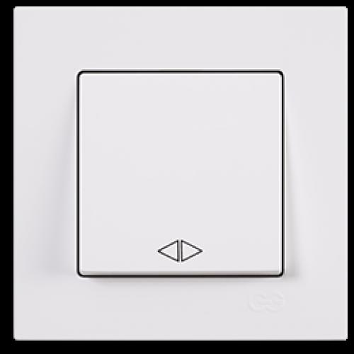 Выключатель 1-кл перекрестный (без рамки) белый  Gunsan Eqona (01409300-150135)