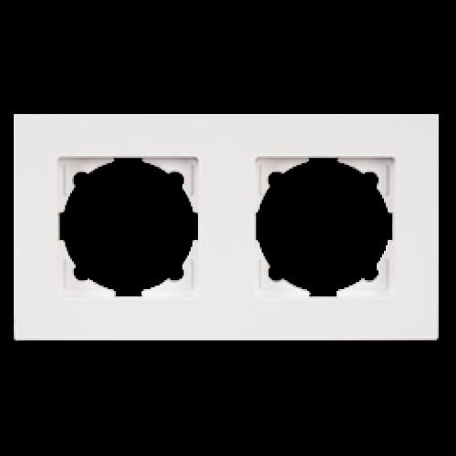 Рамка 2-я белая Gunsan Eqona (01401100-000141)