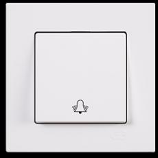 Кнопка звонка белый