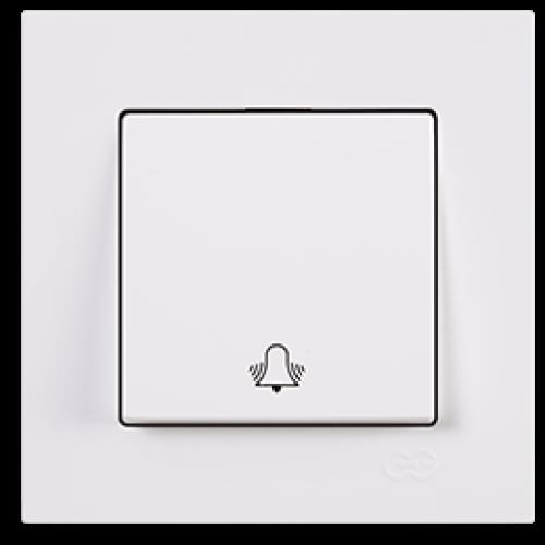 Кнопка звонка белая (без рамки) Gunsan Eqona (01409300-150111)