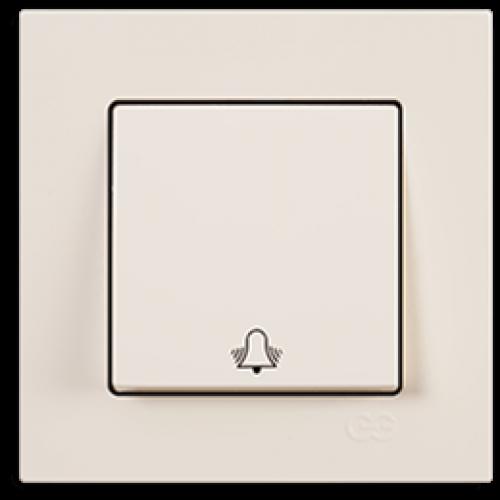 Кнопка звонка кремовый Gunsan Eqona (01401200-150111)