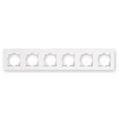 Рамка 6-я белая Gunsan Eqona (01401100-000147)