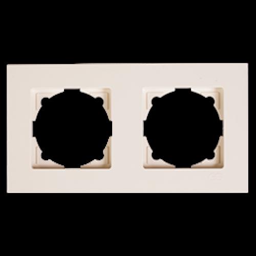 Рамка 2-я кремовая Gunsan Eqona (01401200-000141)