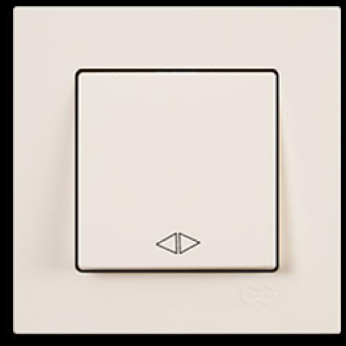 Выключатель 1-кл перекрестный (без рамки) кремовый  Gunsan Eqona (01401200-150135)