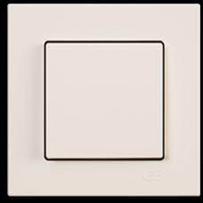 Выключатель 1-кл (без рамки) кремовый