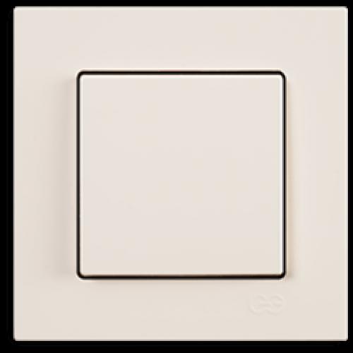 Выключатель 1-кл (без рамки) кремовый Gunsan Eqona (01401200-150101)
