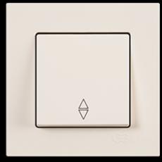 Выключатель 1-кл проходной (без рамки) кремовый