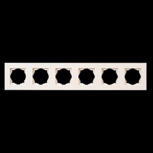 Рамка 6-я кремовая Gunsan Eqona (01401200-000147)