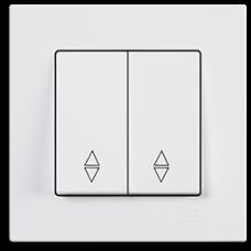 Выключатель 2-кл проходной (без рамки) белый