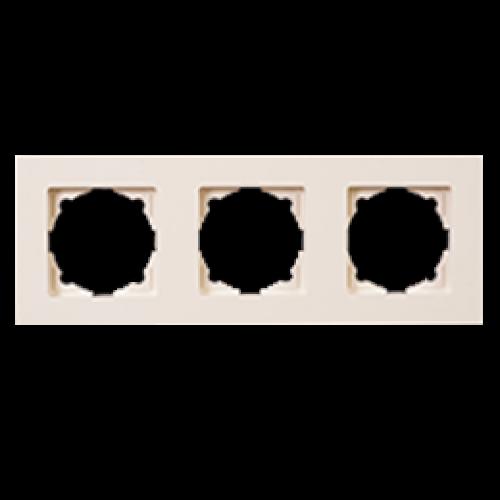 Рамка 3-я кремовая Gunsan Eqona (01401200-000143)