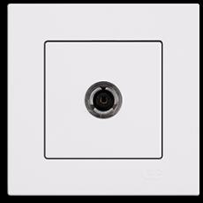 Розетка ТВ (без рамки) белая