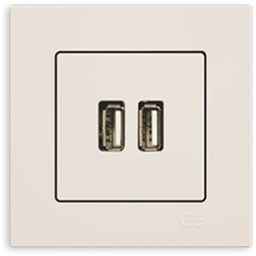 Розетка USB кремовая Gunsan Eqona (01401200-157351)