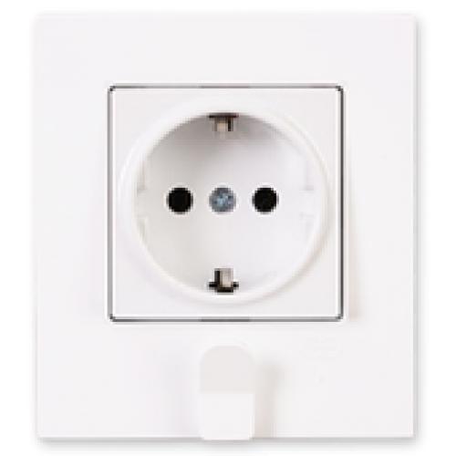 Розетка с/з с держателем для ключей (в сборе) белая Gunsan Eqona original (01401104-100115)