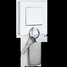 Выключатель 1-кл с держателем для ключей (в сборе) белый