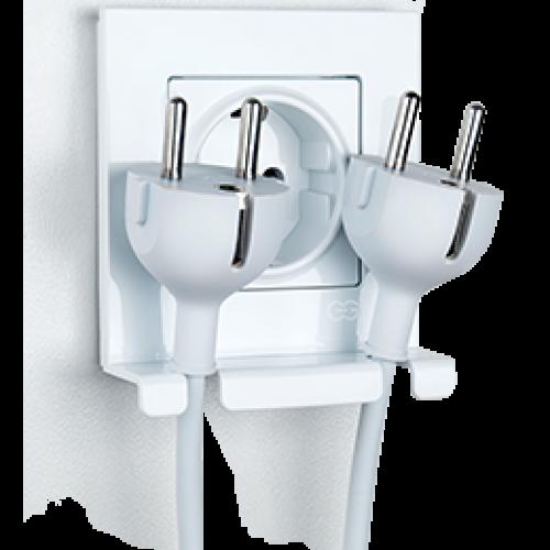 Розетка с/з (в сборе) белый (с держателем для кабеля)  Gunsan Eqona original (01401105-100115)