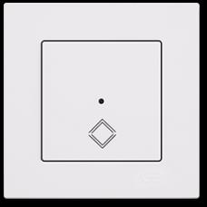 Выключатель перекрестный сенсорный (без рамки) белый