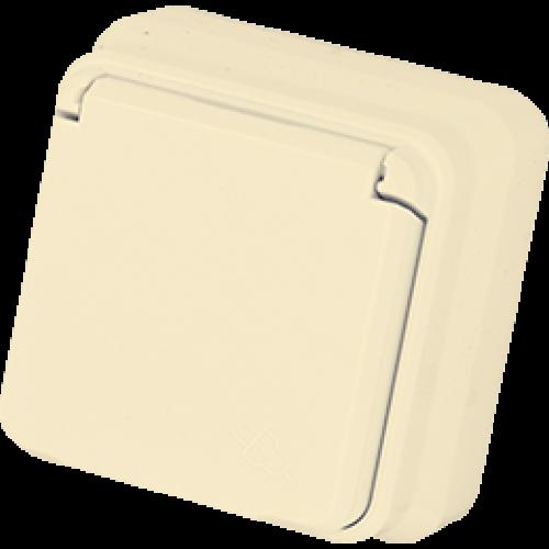 Розетка с крышкой  кремовая Gunsan Misya (01 05 12 00 100 117)