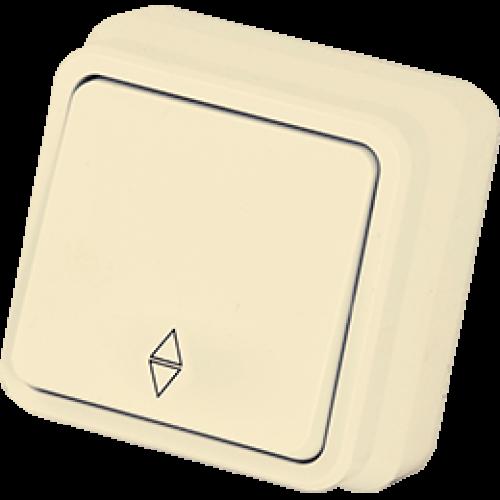 Выключатель 1-кл проходной кремовый Gunsan Misya (01 05 12 00 100 107)