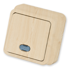 Выключатель 1-кл с индикацией клён