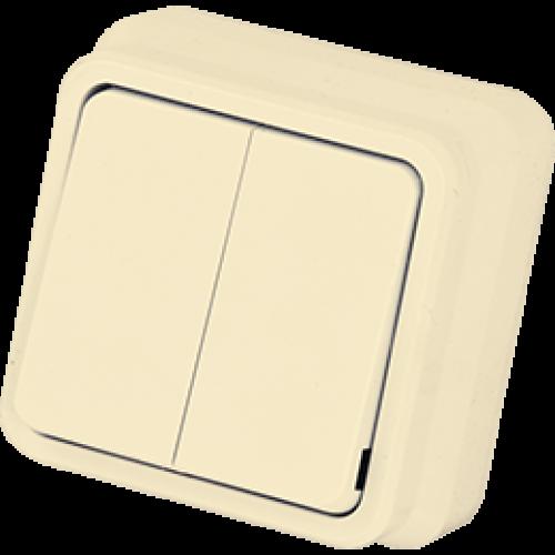 Выключатель 2-кл кремовый Gunsan Misya (01 05 12 00 100 103)