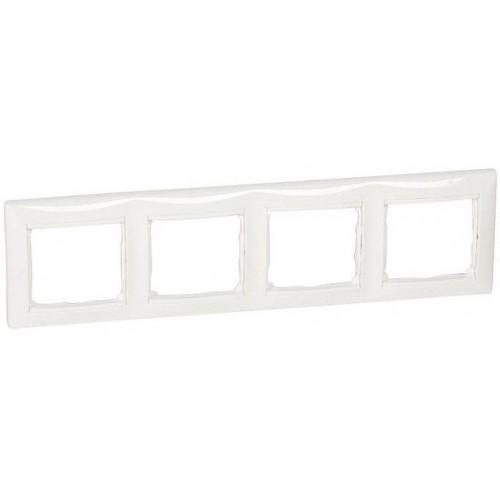 Рамка 4 поста горизонтальная белая Legrand Valena Classic (774454)