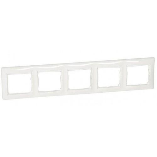 Рамка 5 постов горизонтальная белая Legrand Valena Classic (774455)