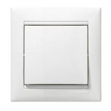 Кнопка звонка белая (без рамки)