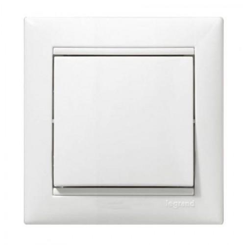 Кнопка звонка белая (без рамки) Legrand Valena Classic (774411)