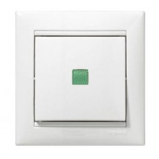 Выключатель с подсветкой (белый) (без рамки)