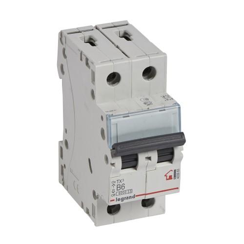 Автоматический выключатель 2P 6A хар-ка B 6kA Legrand ТХ3 (403983)