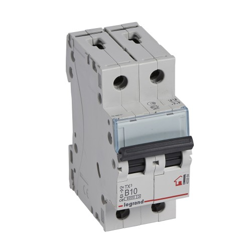 Автоматический выключатель 2P 10A хар-ка B 6kA Legrand ТХ3 (403984)