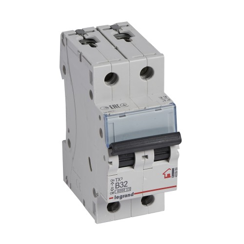 Автоматический выключатель 2P 32A хар-ка B 6kA Legrand ТХ3 (403989)