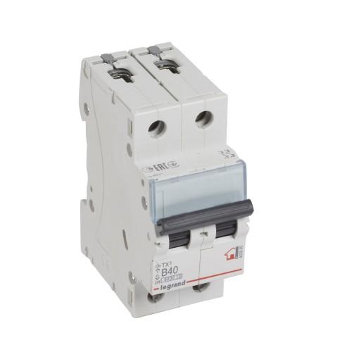Автоматический выключатель 2P 40A хар-ка B 6kA Legrand ТХ3 (403990)