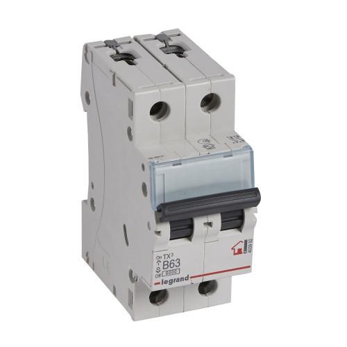 Автоматический выключатель 2P 63A хар-ка B 6kA Legrand ТХ3 (403992)